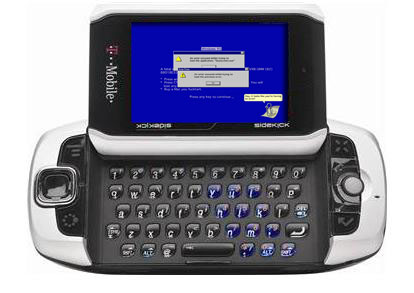 Sidekick Blue Screen